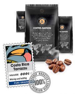 Costa Rica Tarrazzu Kaffeebohnen von Coffee-Nation 500 g