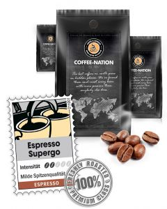 Espresso Supergo Espressobohnen von Coffee-Nation 500 g