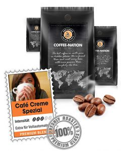 Cafe Creme Spezial Kaffeebohnen von Coffee-Nation 500 g