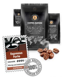 Espresso Forte Luxusmischung von Coffee-Nation 500 g