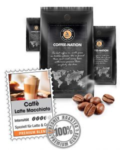 Caffe Latte Macchiato Kaffeebohnen von Coffee-Nation 500 g