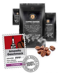 Aroma-Kaffee Amaretto Kaffeebohnen von Coffee-Nation 500 g