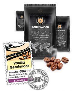 Aroma-Kaffee Vanilla Kaffeebohnen von Coffee-Nation 500 g