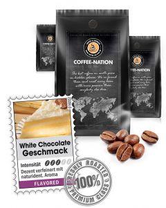 Aroma-Kaffee White Chocolate Kaffeebohnen von Coffee-Nation 500 g