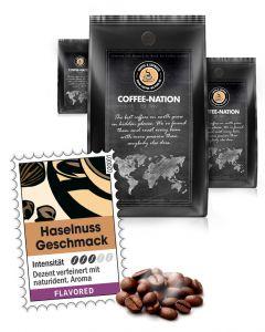Haselnuss Kaffee aromatisiert von Coffee-Nation 500 g