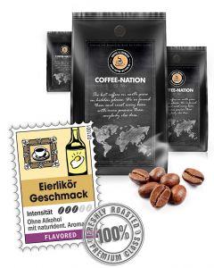 Aroma-Kaffee Eierlikör Kaffeebohnen von Coffee-Nation 500 g