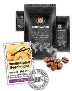 Aroma-Kaffee Vanillekipferli Kaffeebohnen von Coffee-Nation 500 g