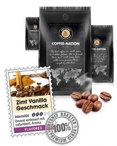Aroma-Kaffee Zimt & Vanilla Kaffeebohnen von Coffee-Nation 500 g