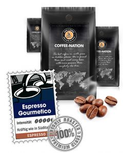 Espresso Gourmetico Luxusqualität von Coffee-Nation 500 g