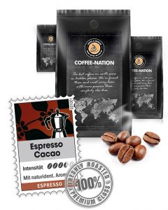 Espresso aromatisiert Cacao von Coffee-Nation 500 g