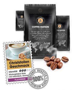 Aroma-Kaffee Christstollen Kaffeebohnen von Coffee-Nation 500 g