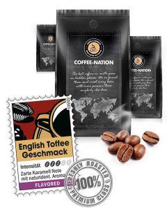 Aroma-Kaffee English Toffee Kaffeebohnen von Coffee-Nation 500 g