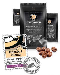 Aroma-Kaffee Pralines & Cream Kaffeebohnen von Coffee-Nation 500 g