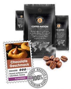 Aroma-Kaffee Chocolate mit Schokolade Geschmack von Coffee-Nation 500 g