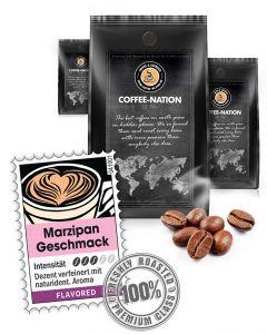 Aroma-Kaffee Marzipan Kaffeebohnen von Coffee-Nation 500 g