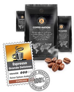 Espresso Grande Delizioso Luxusqualität von Coffee-Nation 500 g