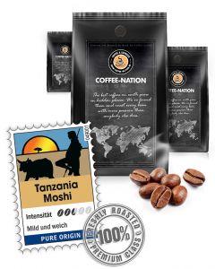 Tanzania Moshi Luxus Kaffee von Coffee-Nation 500 g