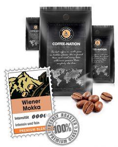 Wiener Mokka Premium Kaffeebohnen von Coffee-Nation 500 g