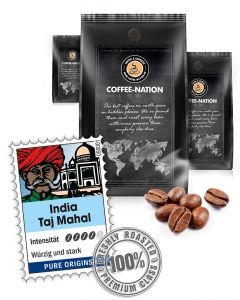 India Taj Mahal Luxus Kaffeebohnen von Coffee-Nation 500 g