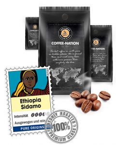 Ethiopia Sidamo Kaffeebohnen von Coffee-Nation 500 g