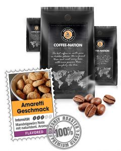 Aroma-Kaffee Italian Amarettini Kaffeebohnen von Coffee-Nation 500 g