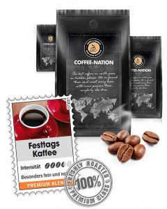 Festtags Kaffee Luxus Kaffee von Coffee-Nation 500 g