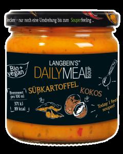 BIO Süßkartoffel-Suppe mit Kokosmilch im Glas von Langbein's DAILY MEAL, 350 ml