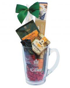 Geschenkset Afternoon mit Deluxe Tee, Wildblütenhonig, edle Zartbitter Schokolade im Designerglas von EILLES