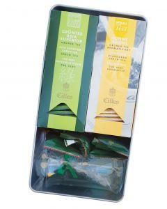 Geschenkset Teemoment mit Classic Grüner Tee, Tea Diamonds, Shortbread und Elegance Teeglas von Eilles