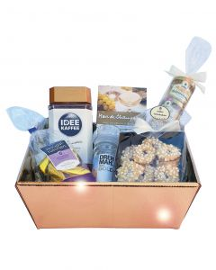 Star Praesent Gold Box, Idee Kaffee, Kekse, Honig Auslese, Arko Nougat-Tütchen