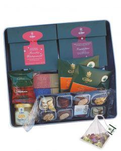 Zeit für Tea Diamonds mit Rooibos Winterpunsch, Kaminfeuer, Kakao Vanille Quadrate, Honig und Schokolade von Eilles