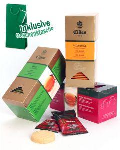 FRÜCHTE Tee Geschenktasche mit Deluxe Teebeuteln von EILLES TEE