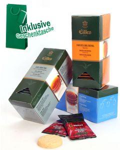 CLASSIC Black Tee Geschenktasche mit Deluxe Teebeuteln von EILLES TEE