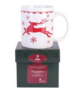 Eilles Tee-Präsent Kaminfeuer mit Tasse
