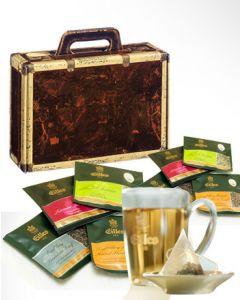 Geschenk-Koffer mit EILLES Tea Diamonds und Designglas