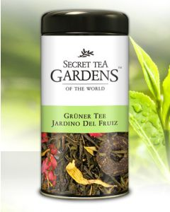 Jardin de Fruiz Grüner Tee Erdbeer-Ananas-Aroma von Secret Tea Gardens 125 g