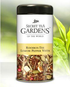 Lemon Pepper Vista Rooibos Tee Lemon-Aroma von Secret Tea Gardens 125 g