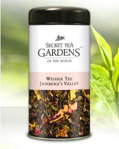 Jasemina`s Valley Weisser Tee Aprikose-Jasmin-Aroma von Secret Tea Gardens 100 g