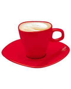 Alfredo Milchkaffeetassen Rot 2er