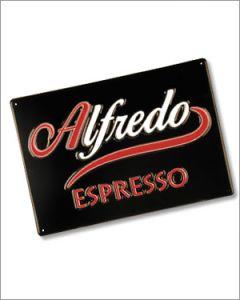 Werbeschild Alfredo Espresso