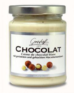 Grashoff CHOCOLAT Weisse Schoko-Creme mit gerösteten Macadamia 235 g