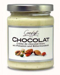 Grashoff CHOCOLAT Weisse Schoko-Creme mit Pistazien und Mandelöl 235 g