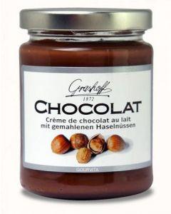 Grashoff CHOCOLAT Schoko-Creme mit Milchschokolade und Haselnüssen 235 g