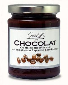 Grashoff CHOCOLAT Dunkle Schoko-Creme mit Espresso Cafe Bohnen 250 g