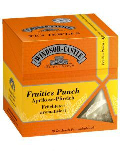 Windsor-Castle Fruitics Punch Tea Jewel, Pyramidenbeutel, 18er, 45 g