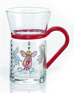 SCHUTZENGEL Teeglas mit Halterung