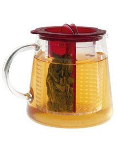 Tea Control 0,8 Liter Designer Teezubereiter von Finum rot