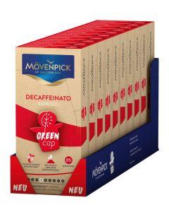 MÖVENPICK DECAFFEINATO 10 x 10 Kaffeekapseln GREEN CAP