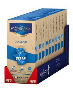 MÖVENPICK CLASSICO LUNGO 10 x 10 Kaffeekapseln GREEN CAP