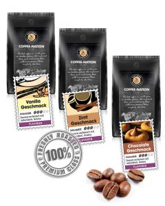 Probier-Set Aroma-Kaffee von Coffee-Nation 3 x 500 g